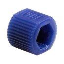 VICI Adapter,  blue, PP, fingertight sleeve, 5/pkg