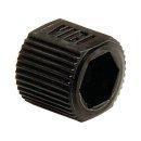 VICI Adapter, black, PP, fingertight sleeve, 10/pkg