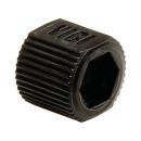 VICI Adapter, black, PP, fingertight sleeve, 5/pkg