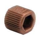 VICI Adapter, brown, PP, fingertight sleeve, 10/pkg