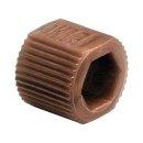 VICI Adapter, brown, PP, fingertight sleeve, 5/pkg